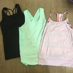 Lot of 3 Ivivva girls shirts 8 EUC